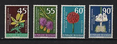 Senegal 1966 Flowers Set 4 Argemone Mexicana Mimosa Digitata Baobab Sc# 275 278