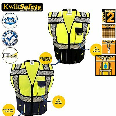 Ansi Class 2 Safety Vest High Visibility Reflective Strips Deluxe 2 Styles