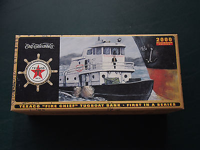 """Texaco """"fire Chief"""" Tugboat Bank 2000 Ertl Collectibles"""