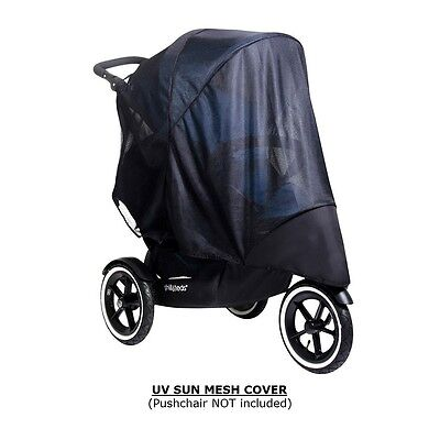Phil & Teds DOUBLE UV Mesh Sun Cover for Navigator, Classic etc
