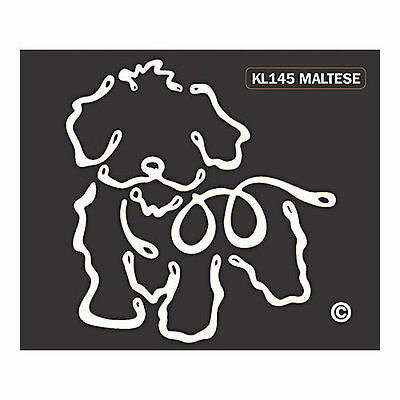 Maltese Dog K-Lines Dog Car Window Tattoo Decal Sticker