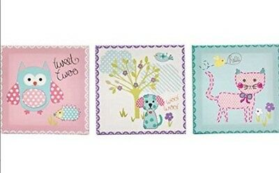 Childrens Kids Bedroom Nursery Canvas Wall Art Pictures Set of 3