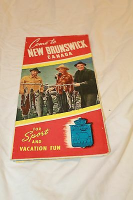 1930's New Brunswick Canada Fishing and Hunting Guide Outdoors