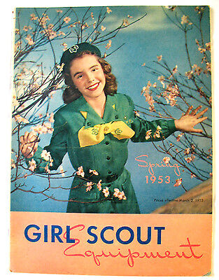 CATALOG, SPRING 1953 Girl Scout Uniforms Equipment Jewelry Excellent Combine Shp