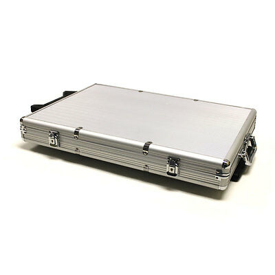 1000 Count Rolling Aluminum Casino Poker Chips Set Storage Case New