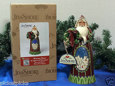 "RETIRED JIM SHORE SANTA ""Welcome Home the Spirit of Christmas"""