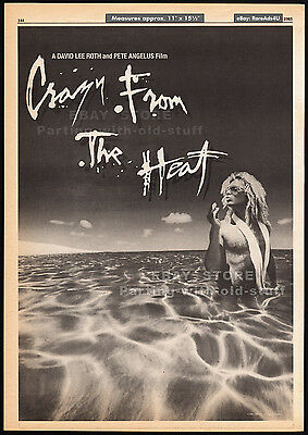 CRAZY FROM THE HEAT__Original 1985 Trade AD_poster__unmade film__DAVID LEE ROTH