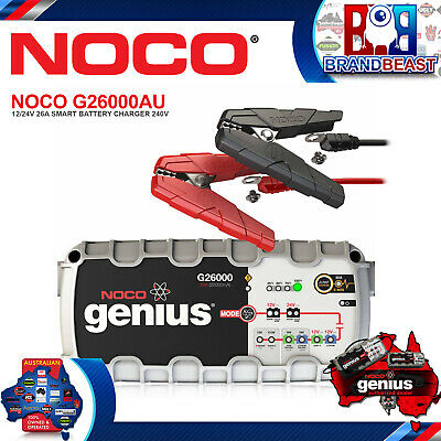 Noco G26000AU 12/24V 26A Battery Charger with Jump Start