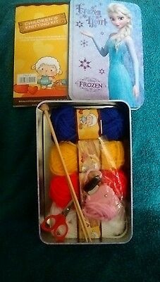 Knitting Kits For Beginners In A Disney's Frozen Tin