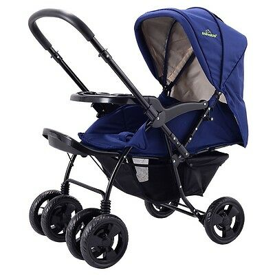 New Two Way Foldable Newborn Baby Kids Travel Stroller Infant Pushchair Buggy
