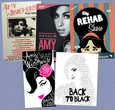 AMY WINEHOUSE concert poster X5 DELUXE FRIDGE MAGNET SET *FREE SHIPPING
