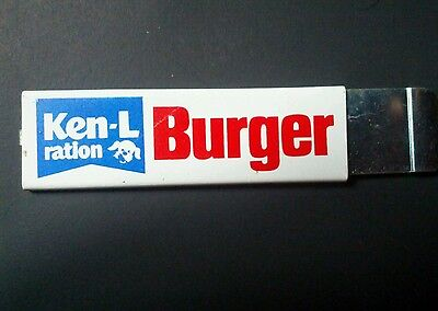Vintage Ken-L Ration Burger Box Cutter Utility Razor Blade Knife