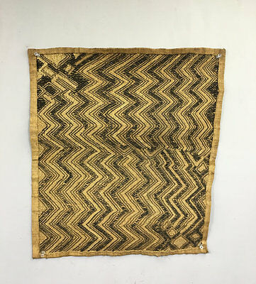 Congo African Kuba Cloth Natural Woven Raffia