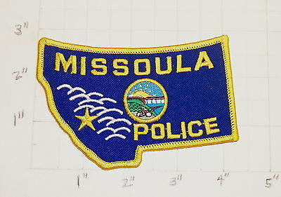Missoula (MT) Police Department Patch w/ Presentation Card        ***NEW***