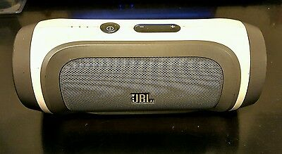 JBL Charge Bluetooth Speaker Gray and White  EUC - Samsung, IPhone, Android