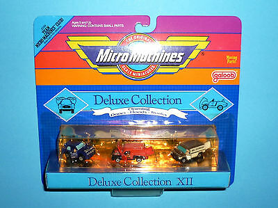 MICRO MACHINES - DELUXE Collection XII 12 - BMW 635csi Ford Van - OVP NEW VG