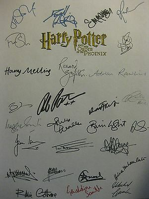 Harry Potter Order of the Phoenix signed Script x27 Radcliffe Robert Pattinson