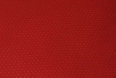 red punch hole faux leather upholstery vinyl fabric car trim interior couch 1yd