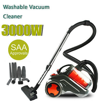 3000W Bagless Cyclonic Vacuum Cleaner Filtration System Replace Accessories Head