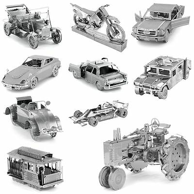 Automobile Series 3D Metal Model Puzzle Jigsaw Laser Cut DIY Assembly Toys