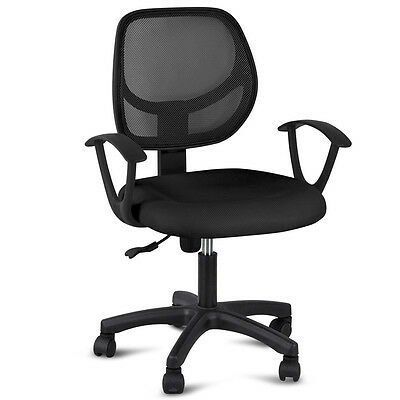 Designer Mesh Adjustable Executive Office Computer Desk Chair Seat Fabric Black