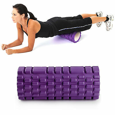 The Grid Foam Yoga Roller Trigger Point Gym Sports Massage Physio Purple