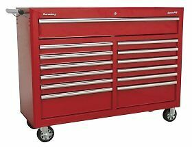 Sealey AP5213T 13-Drawer Roll Cab with Ball Bearing Runners Tool Chest Box - Red