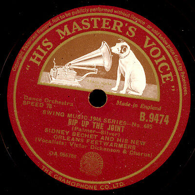 SIDNEY BECHET & HIS NEW ORLEANS FEETWARMERS Rip up the joint /Texas Moaner X2445