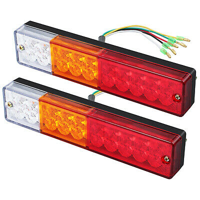 2X 12V LED Square Trailer Lights Rear Tail Lamp Truck Van Boat Number Taillight