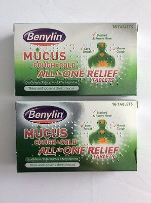 Benylin Mucus Cough & Cold All In One Relief Tablets x 32