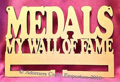 Medals My Wall Of Fame Wall Hanging Rack Stand 30 X 20cm Mdf Wooden Wood