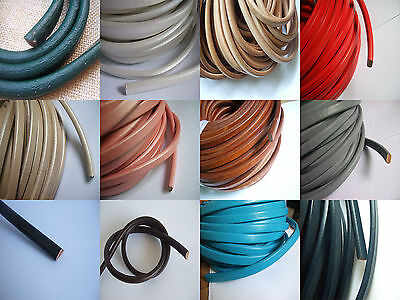 1 Meter 10x6mm Genuine Real Licorice Leather Cord for Jewellery Making
