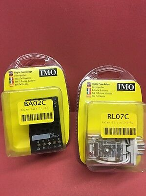 IMO RL07 RELAY and BASE BA02C 11 PIN 24V AC  (RS3PN24AC)