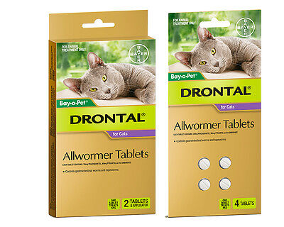 Drontal Allwormer For Cats Shape Worming Tablets for Cats All Sizes