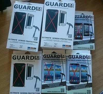 Mixed set of mobile phone screen protectors - Guardex - Priced for all !