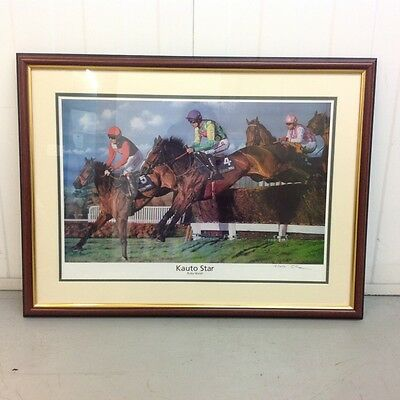 Kauto Star Framed Picture Artist Signed no. 15/450
