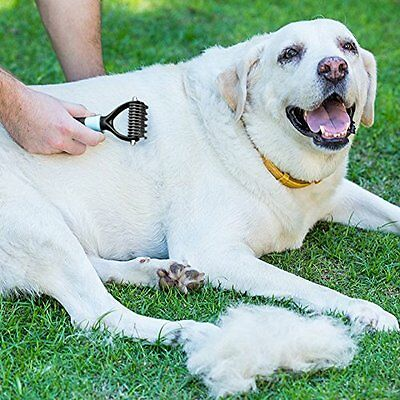 NEW PET Grooming Undercoat Rake Comb, Dematting Stripping Tool for Dogs & cats
