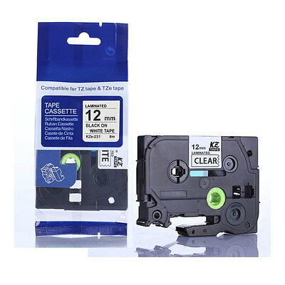 Standard Laminated Label Tape Compatible For Brother TZ-231 Labelers 12mm