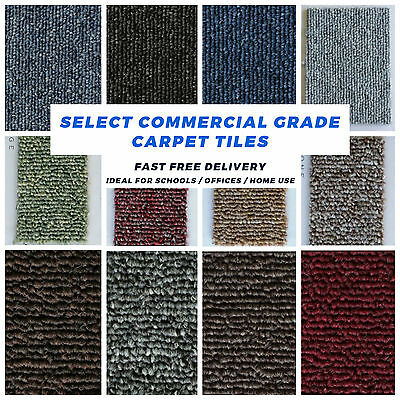 SELECT Commercial Contract / Retail NEW Bitumen Backed CARPET TILES