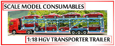 1:18 1-18 1/18 118 Scale Hand Made Hgv Vehicle Transporter Trailer *any Colour
