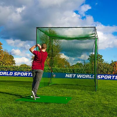 Freestanding Golf Cage - Home Driving Range Net & Poles. [Net World Sports]