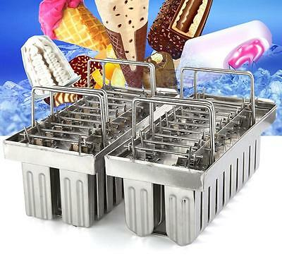 20pcs Stainless Steel Molds Ice Lolly Popsicle Ice Cream Stick Holder Industrial