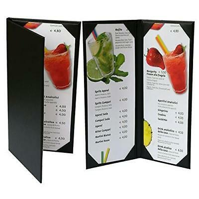 """Menu Cover(Packed of 5 Pcs)4"""" 3/4"""" X 11"""" Inches, Double View,Sold By Case New"""