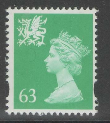 WALES SGW82 1997 63p LIGHT EMERALD MNH