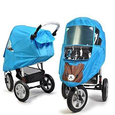 Universal Baby Weather Shield Baby Stroller Canopy Waterproof Rain Cover New