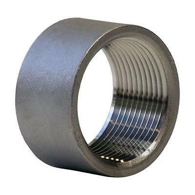 """Stainless Steel 316 Cast Pipe Fitting, Half Coupling, Class 150, 2"""" NPT Female"""