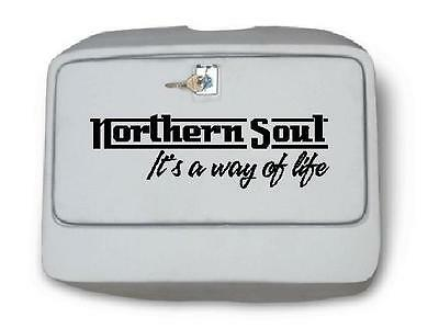 Northern Soul Sticker 300mmw to fit Vespa Scooter PX Tool Box Lid Decal