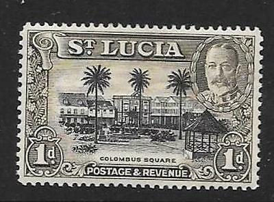 ST.LUCIA SG114 1936 1d BLACK & BROWN MTD MINT