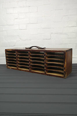 Wooden Post Office Mail Sorting Cabinet Royal Mail Letter Filing Storage Rack