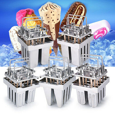 8pcs Stainless Steel Molds Ice Lolly Popsicle Ice Cream Stick Holder Industrial